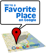 We're a favorite place on Google!